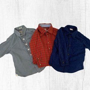 🍭 lot of 3 kids button down shirts